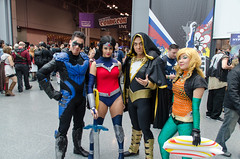 Nightwing, Wonderwoman, Shazam/Captain Marvel, and Aquaman Cosplay (vince.ng86) Tags: dc cosplay comiccon nycc nycc2014