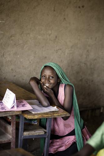 Hama Omar, 8, attends Amharic class at Alula ABEC (Alternative Basic Education Center)