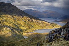 A wild place (OutdoorMonkey) Tags: wild sunlight mountain water sunshine evening scotland remote loch wilderness knoydart munro lochquoich gleouraich spideanmialach lochcuaich