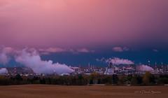 NOVA (D.Spence Photography) Tags: pink canada nova sunrise industrial alberta prairies plastics petrochemical