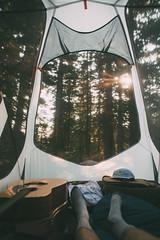Waking Up. (kylesipple) Tags: camping sunset mountains nature landscape utah brighton wildlife saltlakecity saltlake backpacking slc bigcottonwoodcanyon lakemary brightonskiresort sunsetpeak utahmountains campvibes