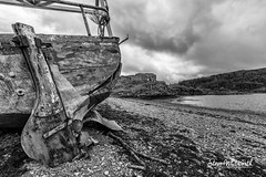 Scotland, Strome (SteveWhitworthPhoto) Tags: bw skye beach scotland boat blackwhite nikon strome scotlandscountryside nikon1424mmf28 d800e nikond800e