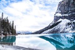 Lake Louise, Alberta, Canada (DaliaGallery) Tags: winter vacation lake canada reflection canon landscape amazing glacier clear louise alberta romantic banff nationalgeographic 2014 bringit nationalgeographictraveler condenasttraveler canonusa