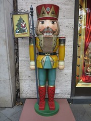 giant wooden toy soldier (squeezemonkey) Tags: berlin shop display german woodensoldier käthewohlfahrt