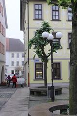 (:Linda:) Tags: street people woman dog bike germany town thuringia marketplace hildburghausen
