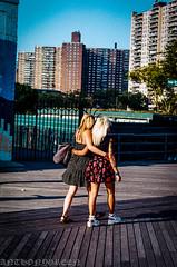 BlondOnBlonde2014(NY) (bigbuddy1988) Tags: city nyc friends sunset woman usa ny newyork color love film brooklyn analog 35mm coneyisland nikon women friendship kodak blond 35mmfilm blonde boardwalk f5 kodakfilm nikonf5