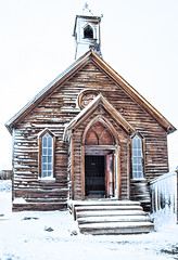 Methodist Church (stephencurtin) Tags: california park winter snow cold church town wooden state ghost structure historic bodie methodist thechallengefactory
