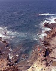 seaside chilling (.Till) Tags: ocean blue sea 120 film pentax kodak 100 analogue 67 ektar 105mm