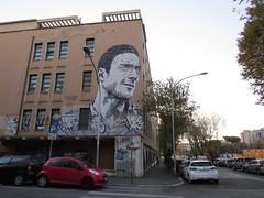 Il murales di Francesco Totti a San Giovanni