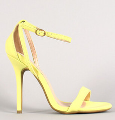 "neon nubuck ankle strap open toe heel neon yellow • <a style=""font-size:0.8em;"" href=""http://www.flickr.com/photos/64360322@N06/15541816809/"" target=""_blank"">View on Flickr</a>"