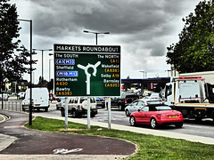 Markets Roundabout, Ring Road, Doncaster. (ManOfYorkshire) Tags: road cars sign traffic m18 m1 sheffield markets roundabout ring route wakefield a1 tt dual audi barnsley rotherham doncaster a1m selby carriageway bawtry