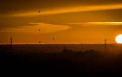 Sunrise (deltic17) Tags: morning sky cloud sun beautiful sunrise dark early am colours time pylon