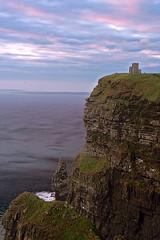 Sunset on the cliffs (laura.foto) Tags: ocean ireland sunset castle landscape clare cliffs coastline cliffsofmoher