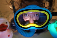 Caz 365 - Day #315 (cazphoto.co.uk) Tags: selfportrait me bathroom bath snorkel mask ducks bathtub rubberducks gopro f