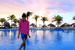 ZION DEJANO PINK SUNRISE SKIES MEXICO VIVID SKIES (itsnicholezion) Tags: trip sunset summer vacation beach pool fashion sunrise mexico dawn outfit paradise skies view playadelcarmen vivid resort swimmingpool palmtrees mens anchor rivieramaya bluewaters bathingsuit pinkshirt allinclusive pinkskies beachbar cataloniaresort ziondejano