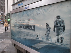 Interstellar Astronauts Phone Booth Billboard 0102 (Brechtbug) Tags: above street new york 2001 city nyc windows fiction building film corner booth out movie poster flooding phone traffic kubrick space cab taxi nolan christopher like s astronaut science billboard astronauts stanley scifi spaceship odyssey avenue cabs 7th 41st interstellar a 10222014