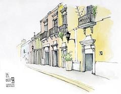 Calle 59 (jdan_sketch) Tags: urban mexico sketch mexique campeche