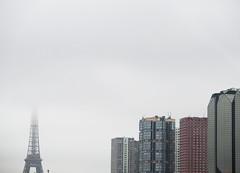 Paris (julien `) Tags: paris france fog europe eiffeltower olympus toureiffel brouillard brume beaugrenelle stylus1 stylusone