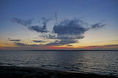 Just after sunset today (vanstaffs) Tags: sunset sea sky beach skyscape sundown helsingborg