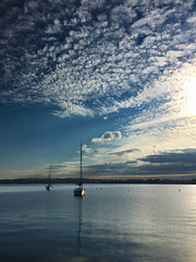 Severn River, MD (s1price) Tags: water clouds sailboat river boat maryland severn mooring iphone severnriver iphone6 severnrivermd
