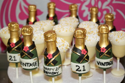 Champagne Tails Cake Pops