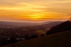 Sunset from Box Hill, Surrey (paulinuk99999 (lback to photography at last!)) Tags: sunset halloween landscape october box hill surrey dorking 31 leatherhead 2014 paulinuk99999 sal1650f28
