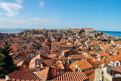 Red Roofs (Laura Sanderman) Tags: world old city sea vacation heritage sunrise town europe mediterranean view croatia unesco oldtown dubrovnik adriatic worldheritage adriaticsea dalmatia