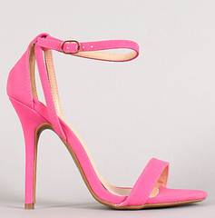 "neon nubuck ankle strap open toe heel neon pink • <a style=""font-size:0.8em;"" href=""http://www.flickr.com/photos/64360322@N06/15725784781/"" target=""_blank"">View on Flickr</a>"