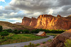 Fire on the Cliffs (b_mccarley) Tags: sunset cliff usa barn landscape photography utah nationalpark ut colorful paradise valley capitolreef capitolreefnationalpark fruita mormonbarn fruitabarn