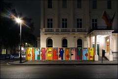 Thierry Noir (Alex Ellison) Tags: urban streetart london night painting graffiti mural boobs painted berlinwall 25thanniversary germanembassy thierrynoir