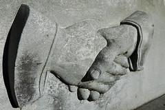 Clasped hands (Bigadore) Tags: whitebronze