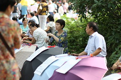 Marriage market at The Peoples Park in Shanghai, China (mbphillips) Tags: marriagemarket peoplespark   huangpu china  canon450d canonef85mmf18usm