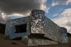 "Blockhaus ""Ano-Nyme"" Leffrinckoucke (Frederique Triffaux) Tags: leffrinckoucke bunker mirror anonyme nord pentaxk10d pentaxart blockhaus clouds sky seashore seaside cloudysky"