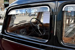 2016-10-02: At The Wheel (psyxjaw) Tags: london londonist vintage festival classic car boot sale classiccar kingscross shopping lewiscubitsquare vehicle drive