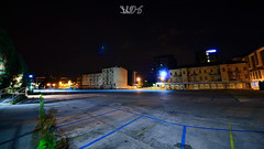 Parcheggio Piazzale Boschetti, Padova (Davide Anselmi) Tags: liberty notte padova palazzi parcheggio piazzale piazzaleboschetti vecchiogasometro davideanselmi 2016