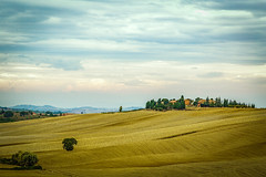 Tuscan Farm (Mike Schaffner) Tags: clouds farm field italia landscape plowed toscana tuscan tuscany pienza italy it rural