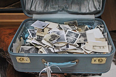 Suitcase Full of Memories (skipmoore) Tags: thriftstore suitcase photographs prints memories