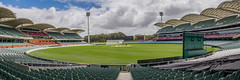 Adelaide Oval (Anthony's Olympus Adventures) Tags: adelaide adelaidecbd adelaideoval southaustralia sa australia stadium oval ground field sports sport icon famous venue olympusem10 panorama panoramic raw arena