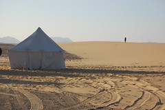 Bedouin tent and traveller (gilmorem76) Tags: sahara egypt africa bedouin desert tent travel tourism hike hiking