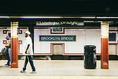 BB (Cedpics) Tags: subway nyc usa street newyorkcity fujixpro1 platform brooklynbridgestation mta