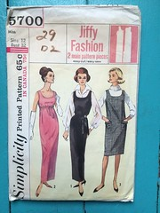 Simplicity 5700 (kittee) Tags: kittee vintagesewing vintagepattern simplicity simplicity5700 5700 1964 1960s jiffy dress juper sleeveless slit pockets size12 bust32 miss wouldsell
