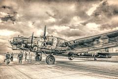 B-17 Texas Raider and Crew (txwhitacre - I think I'm back :)) Tags: b17 aircraft monocrome