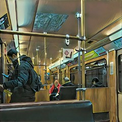 Munich Subway (Casey Hugelfink) Tags: munich mnchen prisma prismaapp ubahn metro subway passengers people