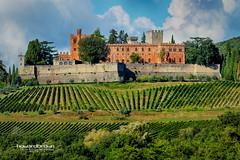 Castello di Brolio (Howard Brown Photographic) Tags: gaiole chianti italy italia tuscany castle castello di brolio wine vineyard vineyards palace landscape hdr