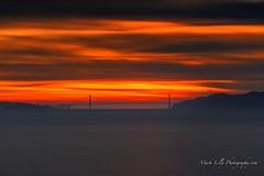 Sunrise over the Golden Gate Bridge... (markarlilly) Tags: goldengatebridge bayarea sanfrancisco sanfranciscobay marinheadlands marin marincounty berkeley berkeleymarina pacific pacificocean westcoast california zeiss zeiss135mm sonnar1352zf
