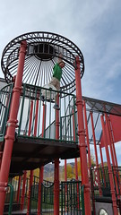 Olsen at the park (Aggiewelshes) Tags: october 2016 travel utah parkcity fall phone s6 olsen playground