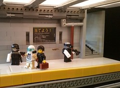 Station 12, Organ District (Popsicle master) Tags: scifi cyberpunk scene lego police corporate criminal subway monorail exosuit future cyber brickarms guns