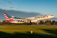 N279AY American A330 (jiddster) Tags: a330 egcc manchester airport landing airbus 05 touchdown