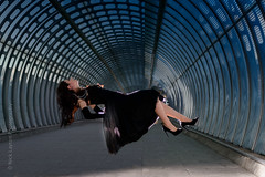 Poplar Tube Station - Sunday afternoon (Ukstudioart) Tags: levitation strobe dlr london location floating