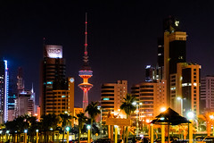 ..kuwait skyline.. (asifshah.com) Tags: kuwait city skyline night tower towers cityscape urban